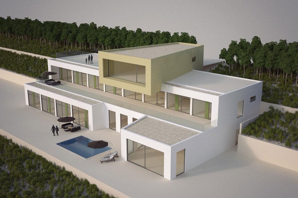 Neubau einer Villa in Aburiland